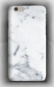 Vit marmor skal för en iphone eller samsung