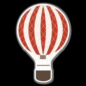 Röd ballong perfekt som små klistermärken eller stora wallstickers.