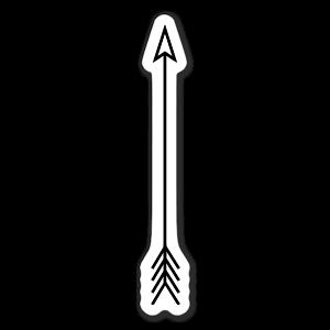 Flèche simple sticker