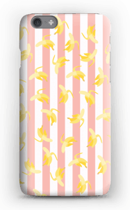 Striped banans on a case for iPhone or Samsung