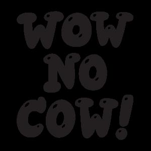 Wow No Cow! sticker