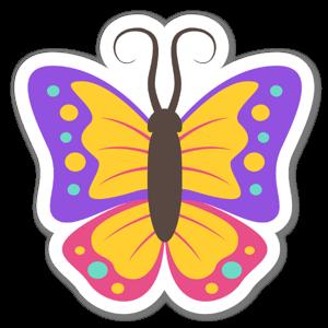 Butteryfly Sticker