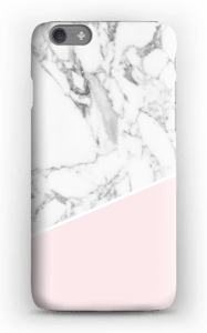 White Marble and Pink case IPhone 6s