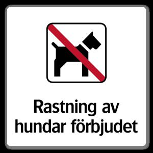Rastning av hundar forbjudet dekaler sticker