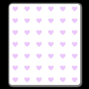 Ljusrosa hjärtan sticker