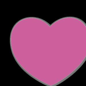 Rosa hjärta sticker