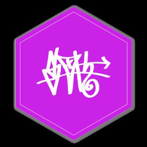 Pink D Tag Sloth sticker