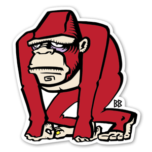 Red Gorilla sticker