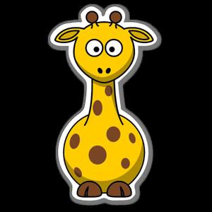 Aufkleber Giraffe