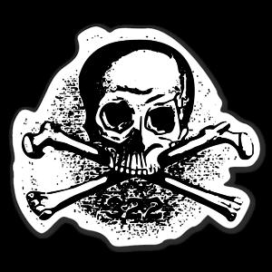 Skull and Bones Aufkleber