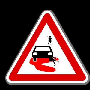 Farten som dödar varningsskylt sticker