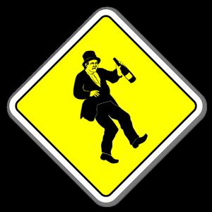 Klistermärke med varning för fullgubbe sticker