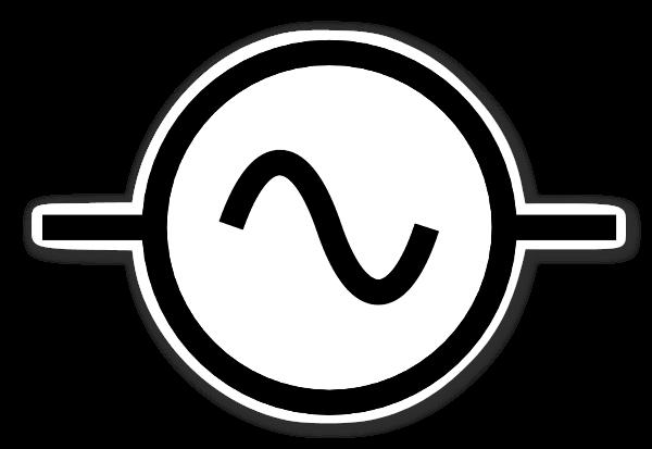 ac alternating current symbol