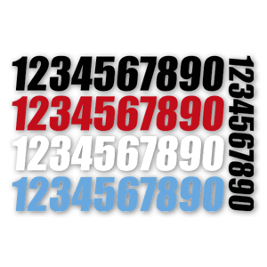 Racing numbers  sticker