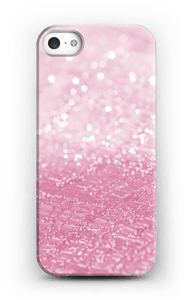 Pink Glitter case IPhone SE