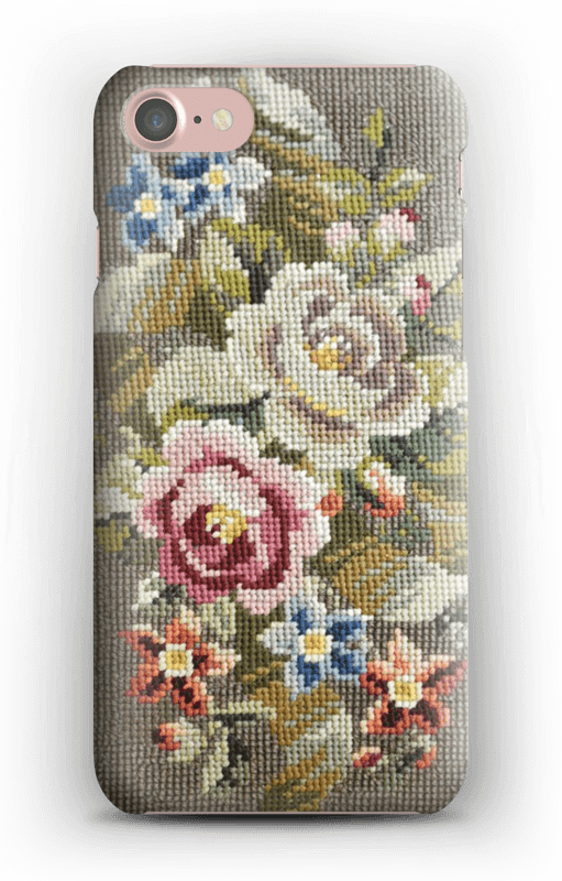 Blomster Broderi cover IPhone 7