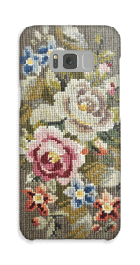 Blomster Broderi cover Galaxy S8 Plus