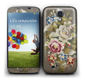 Blomster Broderi Skin Galaxy S4