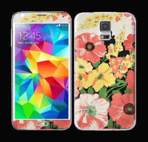 Vintage blomstermønstre Skin Galaxy S5