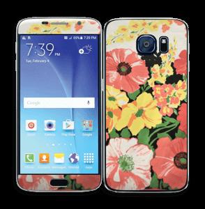 Vintage blomstermønstre Skin Galaxy S6