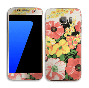 Vintage blomstermønstre Skin Galaxy S7
