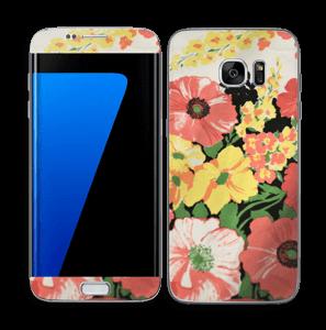 Vintage blomstermønstre Skin Galaxy S7 Edge