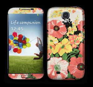 Vintage blomstermønstre Skin Galaxy S4