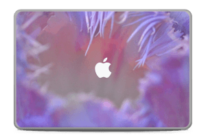 "Lilla blomst Skin MacBook Pro 17"" -2015"