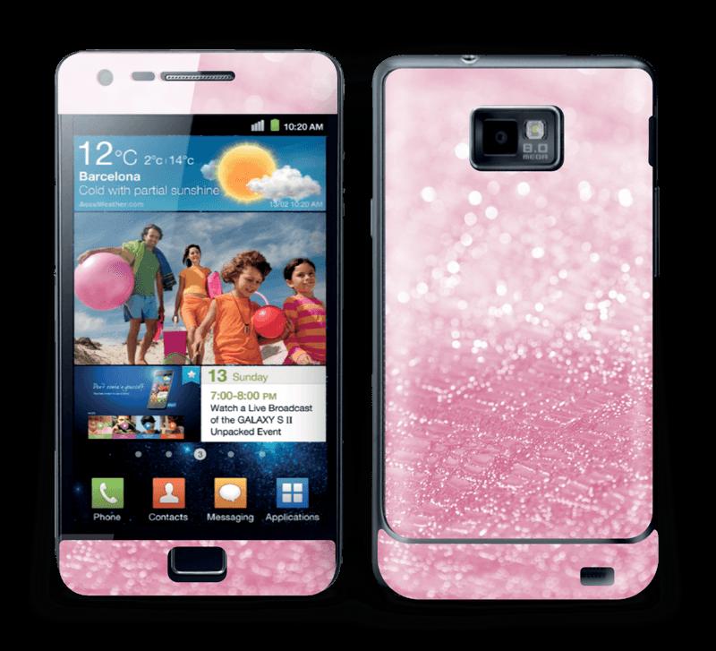 Rosa glitter Skin Galaxy S2