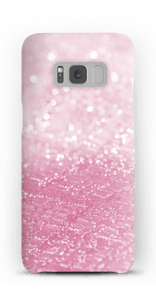 Rosa glitter deksel Galaxy S8
