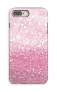 Rosa glitter deksel IPhone 8 Plus tough
