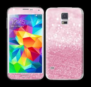 Rosa glitter Skin Galaxy S5