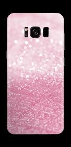 Rosa glitter Skin Galaxy S8