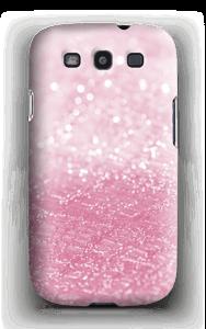 Rosa glitter deksel Galaxy S3