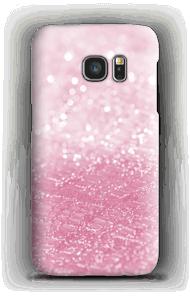 Rosa glitter deksel Galaxy S7