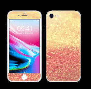 Orange glitter Skin IPhone 8
