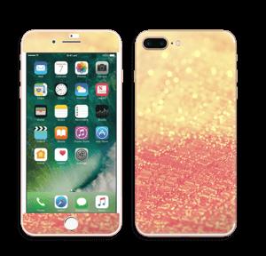 Orange glitter Skin IPhone 7 Plus