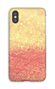 Orange glitter deksel IPhone X