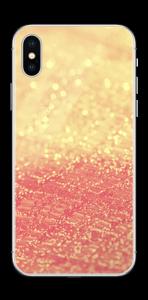 Orange glitter Skin IPhone X