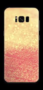 Orange glitter Skin Galaxy S8 Plus
