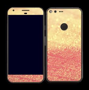 Orange glitter Skin Pixel XL