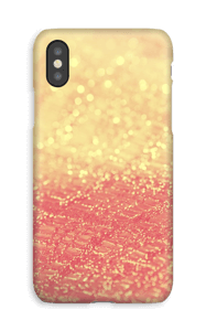 Orange glitter deksel IPhone XS