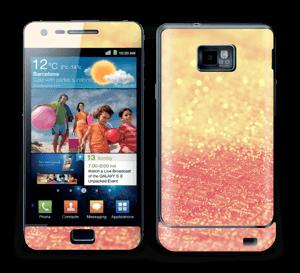 Orange glitter Skin Galaxy S2