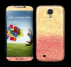 Orange glitter Skin Galaxy S4