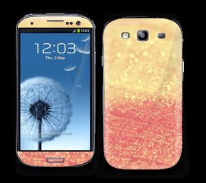Orange glitter Skin Galaxy S3