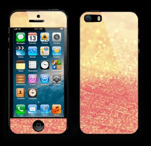 Orange glitter Skin IPhone 5s