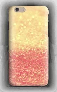 Orange glitter deksel IPhone 6