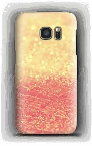 Orange glitter deksel Galaxy S7