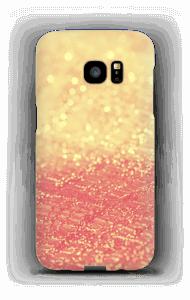 Orange glitter deksel Galaxy S7 Edge