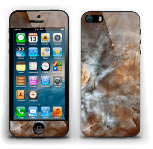 Blue, orange galaxy Skin IPhone 5s